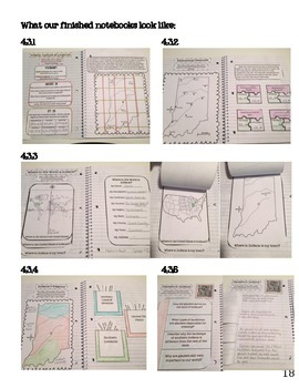 Indiana History Interactive Notebook-Geography