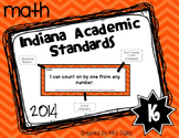 Indiana Kindergarten Math Standards I Can Statements