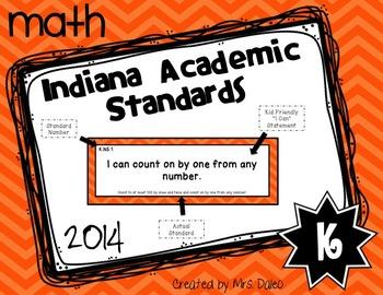 Indiana Kindergarten Math Standards I Can Statements