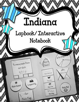 Indiana Lapbook/Interactive Notebook.  US State History an