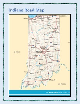 Indiana Maps, Flag, Data Analysis and Geography Assessment