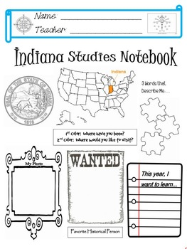 Indiana Notebook Cover