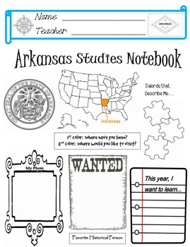 Arkansas Notebook Cover