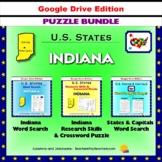 Indiana Puzzle BUNDLE - Word Search & Crossword Activities - U.S States - Google