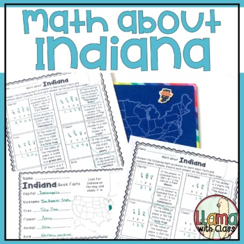 Math about Indiana State Symbols through Subtraction Practice