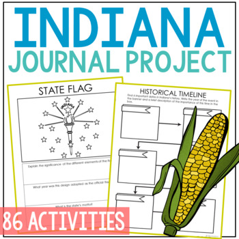 INDIANA History Project, Differentiated State Research Journal {EDITABLE}