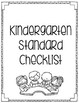 Indiana Standards Kindergarten Checklist