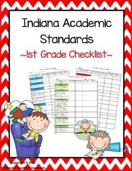 Indiana Standards 1st Grade Checklist