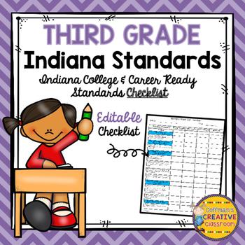 Indiana Standards 3rd Grade Checklist