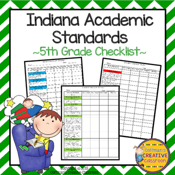 Indiana Standards 5th Grade Checklist
