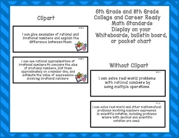 Indiana Standards 6th and 8th Grade Math