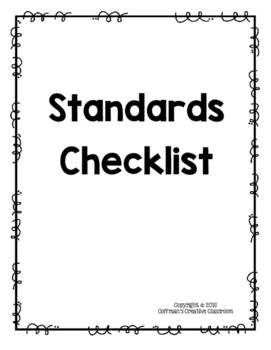 Indiana Standards 8th Grade Checklist