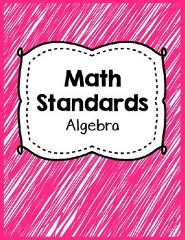 Indiana Standards Checklist.Algebra