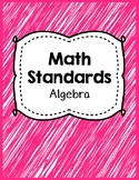 Indiana Standards Checklist.Algebra