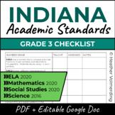 Indiana Standards Checklist | Grade 3