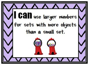 Kindergarten Indiana Standards 'I Can' Posters for Math 2014