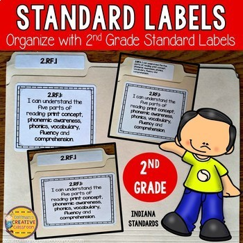 Indiana Standards- Labels for Second Grade