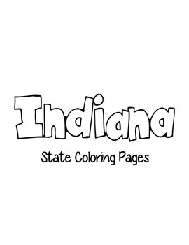 Indiana State Coloring Pages