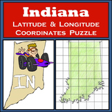 Indiana State Latitude and Longitude Coordinates Puzzle - 43 Points to Plot