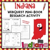 Indiana Webquest Research Mini-Book Activity Common Core