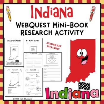 Indiana Webquest Research Mini-Book Activity Common Core