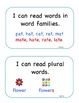 Indiana State Standard I Can Statements for First Grade La