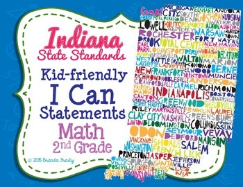 Indiana State Standards MATH Standards 2nd Grade - I CAN Statements