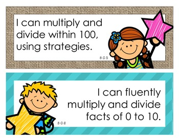 Indiana State Standards MATH Standards 3rd Grade - I CAN Statements