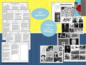 Indiana State Study & Bulletin Board Set