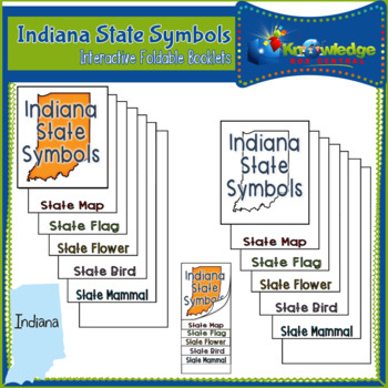 Indiana State Symbols Interactive Foldable Booklets