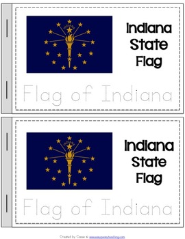 Indiana State Symbols Notebook