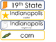 Indiana State Word Wall Bulletin Board Set. Geography Curriculum.