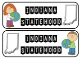 Indiana Statehood Interactive Notebook or Lap book