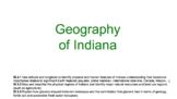 Geography of Indiana ppt | Indiana Studies Indiana History