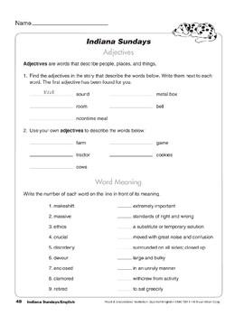 Indiana Sundays/Domingos en Indiana