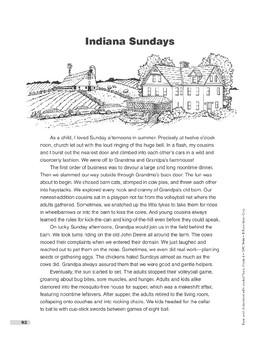 Indiana Sundays (Lexile 910)