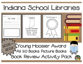 Indiana Young Hoosier Award 2018 - 2019 Book Review Activity Pack