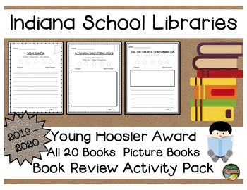 Indiana Young Hoosier Award 2019 - 2020 Book Review Activity Pack