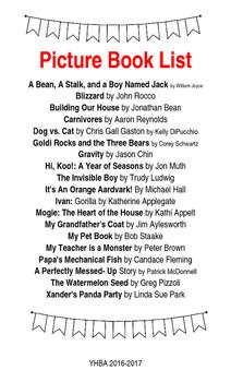 Indiana Young Hoosier Book Award List 2016-2017