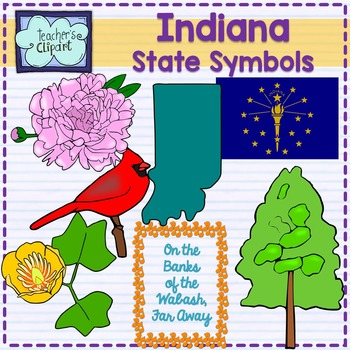 Indiana state symbols clipart