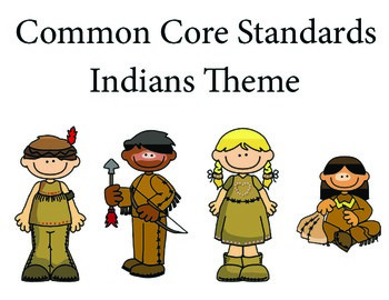 Indians 1st grade English Common core standards posters