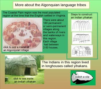 Virginia Studies SMARTboard Lesson - VA Indians - Whole Unit - VS.2