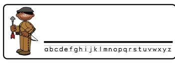 Indians Theme Desk Nameplates (Set of Four)