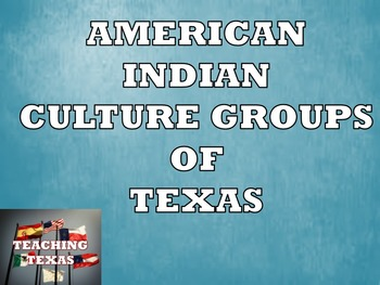 Texas American Indian Culture Groups