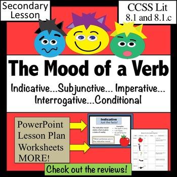 verb moods lesson plus by kim kroll teachers pay teachers. Black Bedroom Furniture Sets. Home Design Ideas