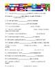 Indicative vs Subjunctive with Bing Bang Theory' s characters (worksheet)