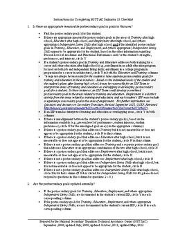 Indicator 13 Checklist B