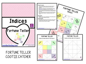 Exponents (Fortune Teller/Cootie Catcher)