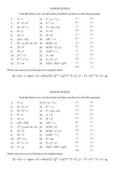 Indices Puzzle