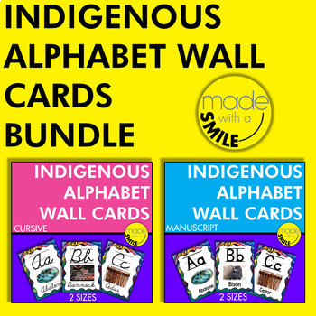 Indigenous Alphabet Wall Cards Bundle (Cursive and Manuscript)